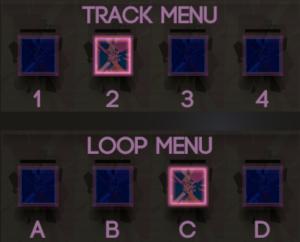 Track and loop menus