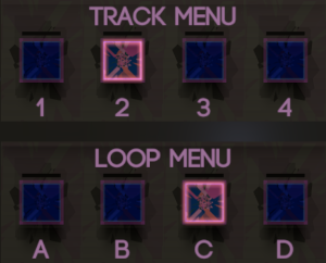 Track and loop menus